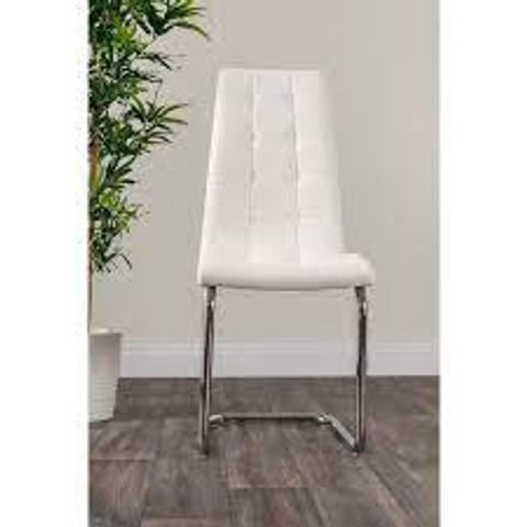 BOXED CABA UPHOLSTERED DINING CHAIR- WHITE (1 BOX)