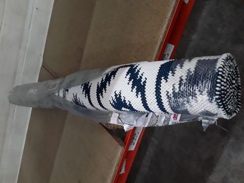 BB HAND WOVEN RUG DARK TEAL RUG 140X200