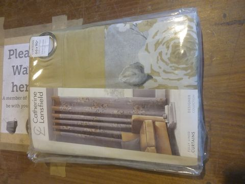 CATHERINE LANSFIELD EYELET HEADER FULLY LINED CURTAINS