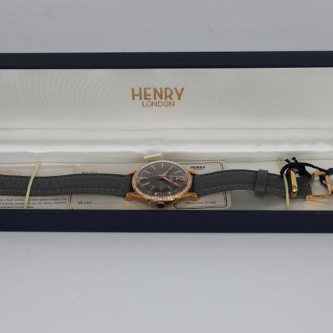 BRAND NEW BOXED HENRY LONDON HL34-SS-0200 FINCHLEY WATCH