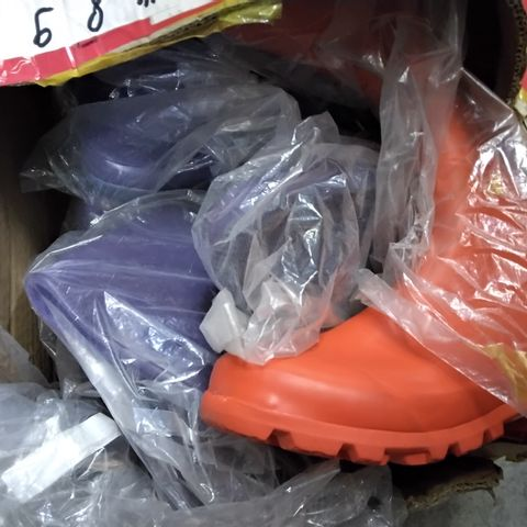 BOX OF APPROXIMATELY 7 ASSORTED WELLIES