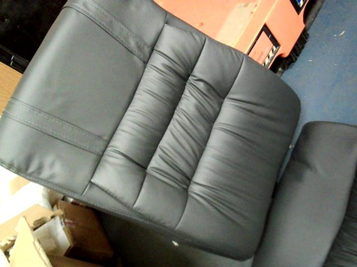BOXED GREY PU OFFICE ARMCHAIR
