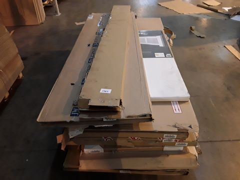 PALLET OF 10 ASSORTED ITEMS TO INCLUDE DOORS, RADIATOR CABINET
