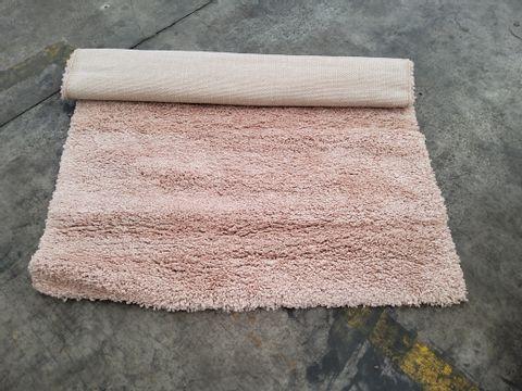 COZEE HOME JUNO SOFT TWIST BLUSH SHAGGY RUG 120 × 170