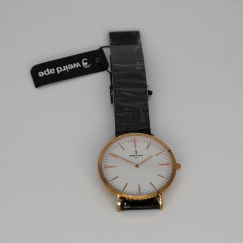 BRAND NEW BOXED WEIRD APE WHITE ROSE AND BLACK WRIST WATCH