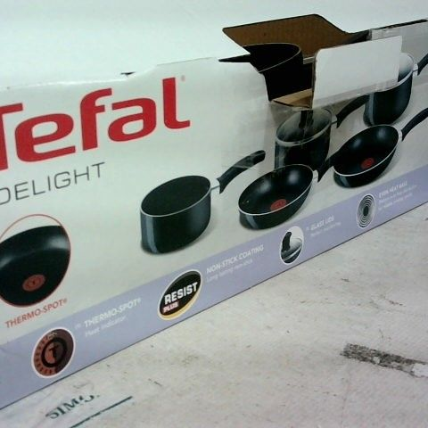 TEFAL DELIGHT 5PC SET OF FRYING PANS AND SAUCEPANS
