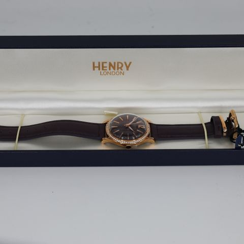 BRAND NEW BOXED HENRY LONDON HL34-SS-0198 HAMPSTEAD WATCH