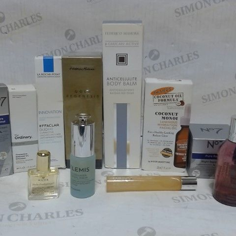 LOT OF APPROXIMATELY 10 ASSORTED SKIN CARE ITEMS, TO INCLUDE NUXE, ELEMIS, CLINIQUE, ETC