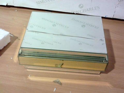JULIEN MACDONALD MIRRORED TRINKET BOX - GOLD