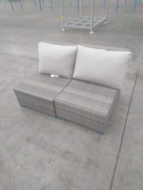 BOXED MAEVEA SYNTHETIC RATTAN COFFEE SET WITH CUSHIONS