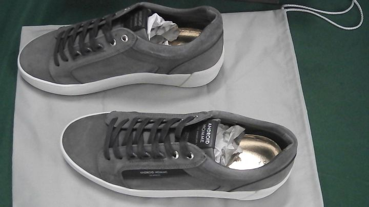 ANDROID HOMME GREY SUEDE TRAINERS UK SIZE 9