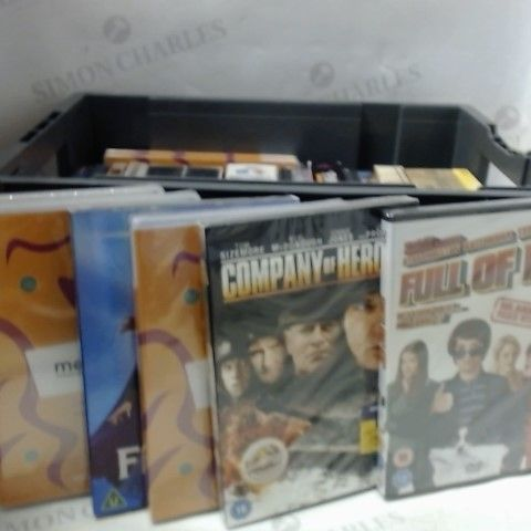 BOX OF APPROXIMATELY 20 ASSORTED DVDS AND BLU RAYS TO INCLUDE; FULL OF IT, THE PINK PANTHER ETC, ETC
