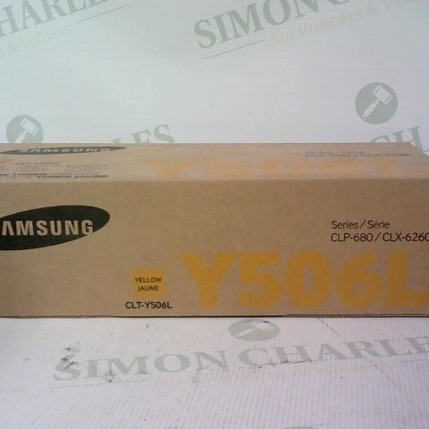 SEALED SAMSUNG YELLOW TONER CARTRIDGE SERIES CLP-680 Y506L