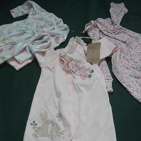 NEXT BABY SET OF 3 BABY GROWS 3-6 MONTHS