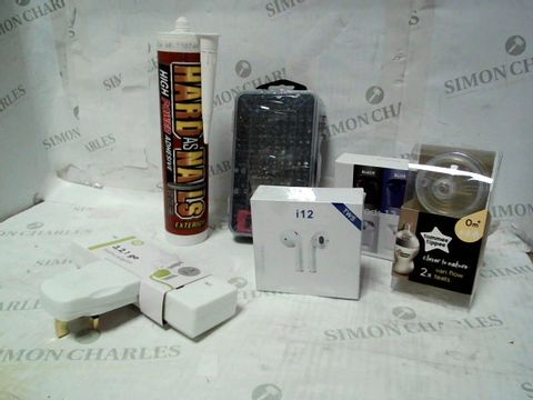 LOT OF APPROXIMATELY 20 ASSORTED HOUSEHOLD ITEMS, TO INCLUDE PHONE REPAIR KIT, INPODS, TOMMEE TIPPEE TEATS, ETC