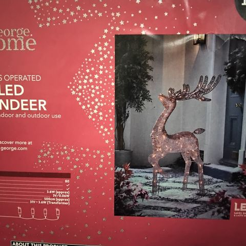 PALLET OF APPROXIMATELY 30 LED REINDEER - INDOOR/OUTDOOR USE.