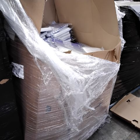 PALLET CONTAINING LARGE QUANTITY OF FACE SHIELDS