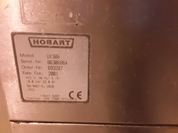 HOBART DISHWASHER UX308