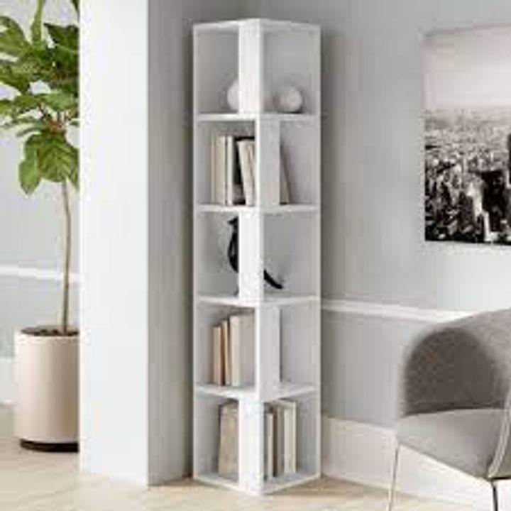 BOXED BENSONHURST WHITE CORNER BOOKCASE (1 BOX)
