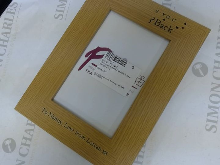 TO THE MOON AND BACK PERSONALISED PHOTO FRAME  RRP £16.99