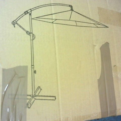 BOXED 3M CANTILEVER HANGING PARASOL CREAM - COLLECTION ONLY