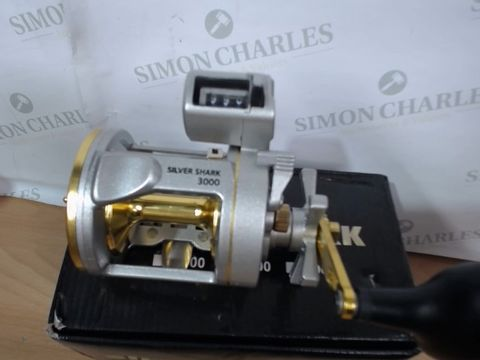 SILVER SHARK MULTIPLIER REEL 15+1 BALL BEARING