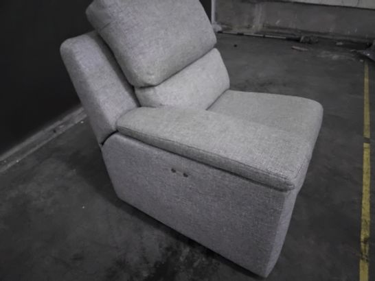 QUALITY G PLAN TAYLOR DAPPLE DOVE FABRIC POWER RECLINING LH SECTION
