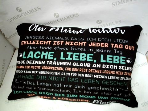GERMAN 'LOVE' CUSHION