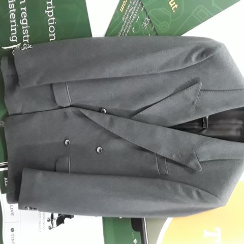 BRAND NEW THE LABEL PURE NEW WOOL 2-BUTTON BLAZER IN GREY - 38 L