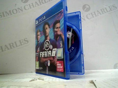 FIFA 19 PLAYSTATION 4 GAME