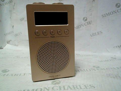 JOHN LEWIS SWIE 5NN DB545-1 DAB/FM RADIO