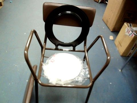 DAYS STACKING COMMODE FIXED HEIGHT STEEL CHAIR WITH PAN