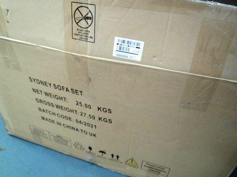 BOXED SYDNEY SOFA SET IN BLACK