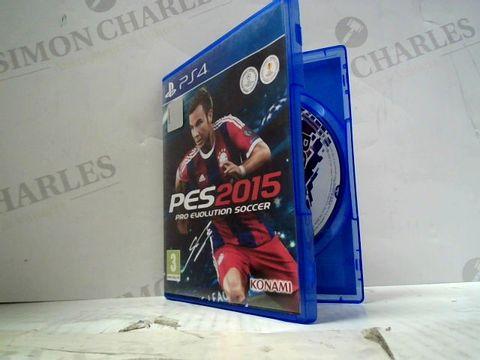 PES 2015 PLAYSTATION 4 GAME