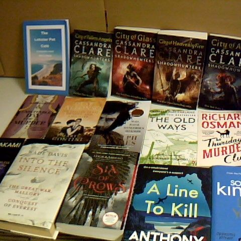 ASSORTMENT OF 15 NON FICTION BOOKS TO INCLUDE CASSANDRA CLARE SHADOWHUNTERS BOOKS 2,3,4 AND 6, AND RICHARD OSMANS THE THURSDAY MURDER CLUB