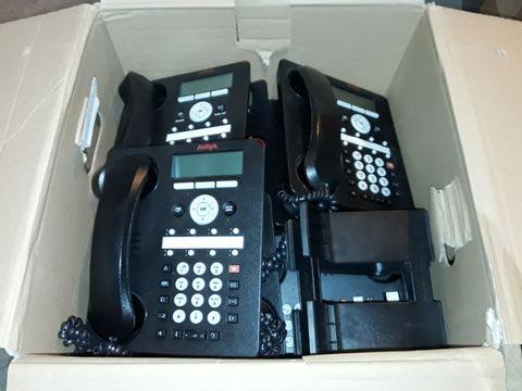 LOT OF 15 AVAYA OFFICE PHONES INCLUDES 14X 1608-I & 1X 1603-I MODELS