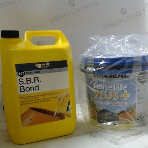 S.B.R BOND AND RONSEAL FENCE LIFE PLUS
