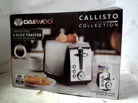 DAEWOO CALLISTO COLLECTION 2 SLICE  TOASTER