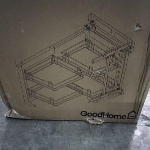 BOXED GOODHOME PEBRE 80CM RIGHT HAND CORNER SPACE STORAGE UNIT