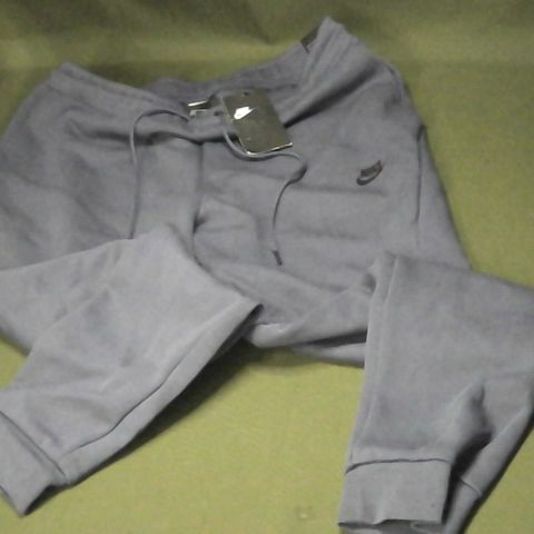 NIKE SLIM FIT TRACKSUIT BOTTOMS IN BLUE - XL