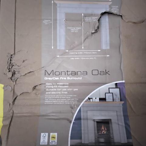 BOXED FOCALPOINT MONTANA GREY/OAK FIRE SURROUND (2 BOXES)