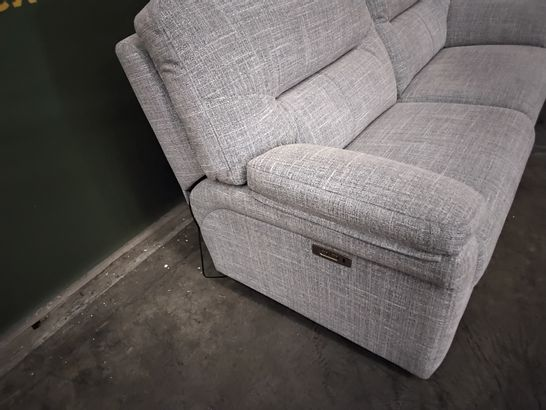 QUALITY G PLAN HEPWORTH OXFORD CHALK FABRIC POWER RECLINING TWO SEATER SOFA