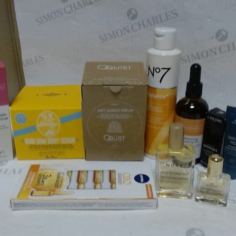 LOT OF APPROXIMATELY 10 ASSORTED SKIN CARE ITEMS, TO INCLUDE FACETHEORY, NUXE, LANCOME, ETC