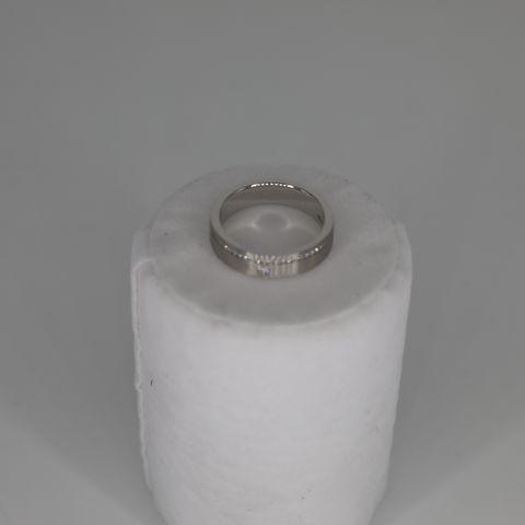 18CT WHITE GOLD UNISEX DIAMOND SET WEDDING BAND