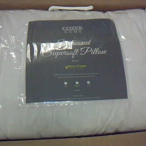 COZEE HOME EMBOSSED SUPERSOFT PILLOW FIRM