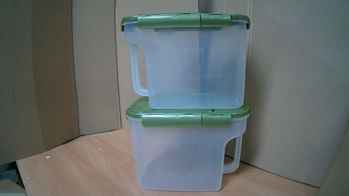 LOCK & LOCK SET OF 2 LARGE 5L FLIP TOP PANTRY STORAGE CONTAINERS