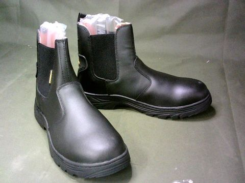 777WORKER STEEL TOE SAFETY BOOTS - EU SIZE 44, BLACK (UNBOXED)