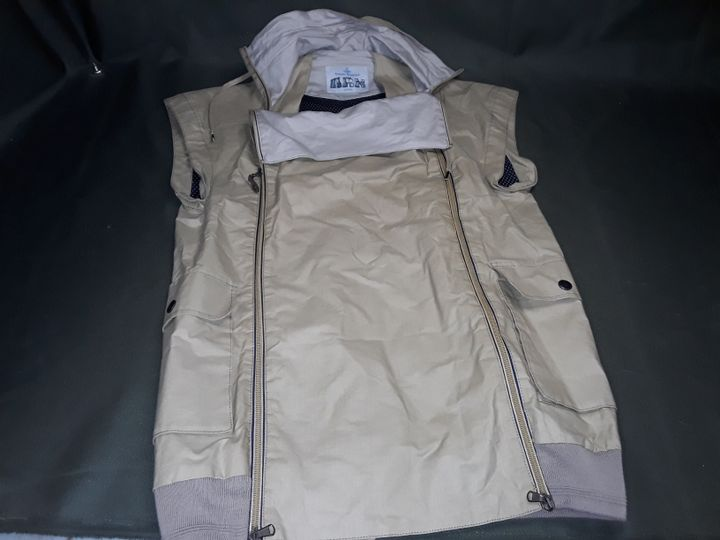 VIVIENNE WESTWOOD MAN TWIN ZIPPED GILET IN NATURAL