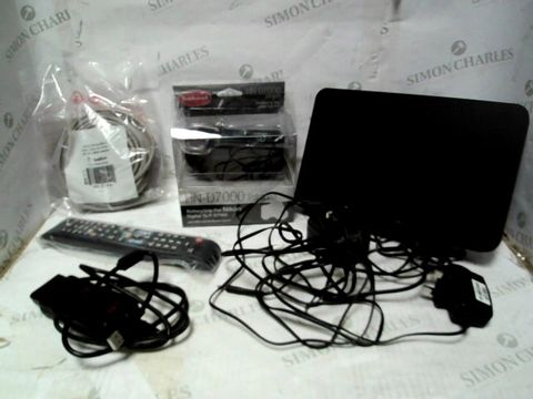 LOT OF A LARGE QUANTITY OF ASSORTED ELECTRICAL ITEMS, TO INCLUDE MPPS SCANNER, NIKON BATTERY GRIP, CAT5E CABLE, ETC