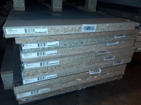 PALLET CONTAINING 10 ASSORTED LAMINATE KITCHEN WORKTOPS - ALL APPROXIMATELY 3000X620X 22 OR 38MM